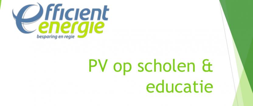 Energiebesparing op scholen, waarom?